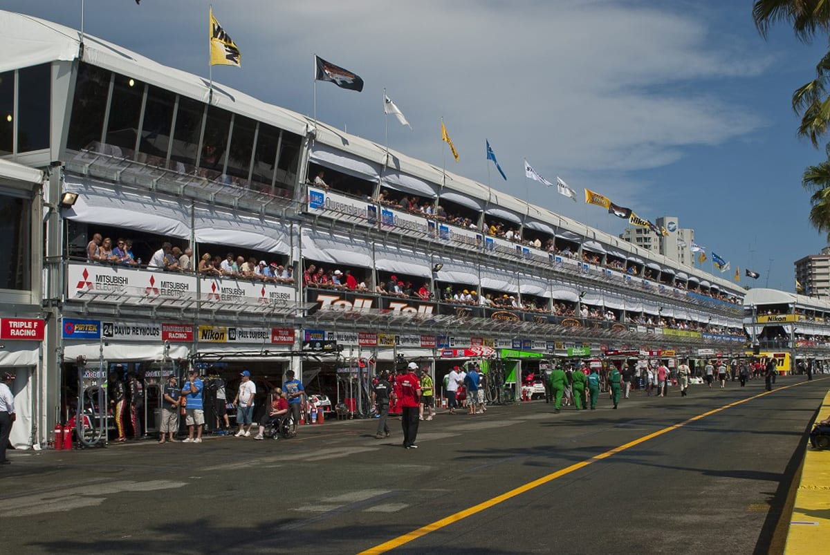A highly specialised custom structure for a formula 1 event