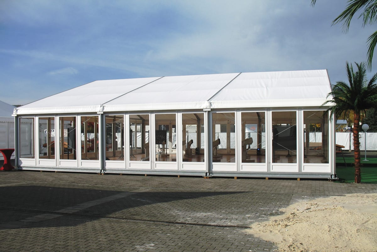 A HÖCKER F-Series large a-frame tent for event